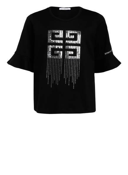 GIVENCHY T-Shirt mit Paillettenbesatz, Farbe: SCHWARZ (Bild 1)