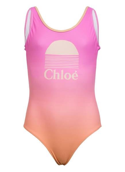 Chloé Badeanzug , Farbe: ROSA/ ORANGE (Bild 1)