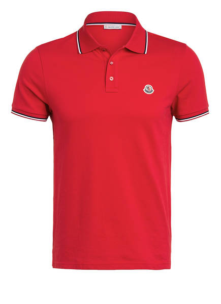 MONCLER Piqué-Poloshirt, Farbe: ROT (Bild 1)