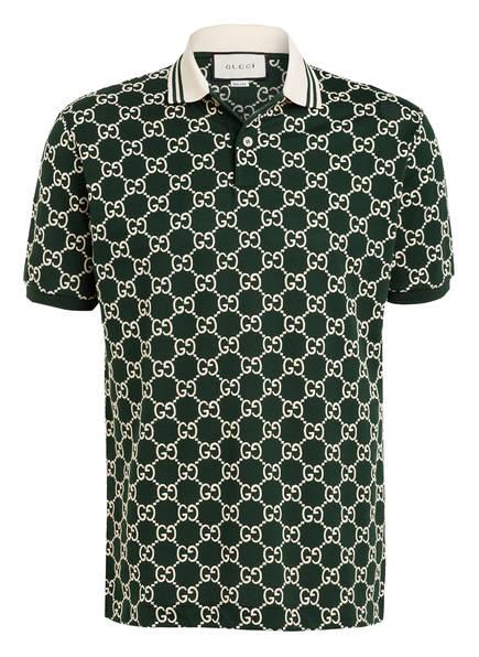 GUCCI Piqué-Poloshirt, Farbe: GRÜN/ ECRU (Bild 1)