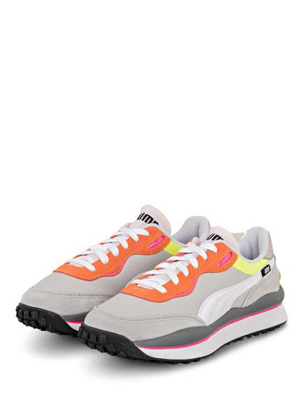 PUMA Sneaker STYLE RIDER PLAY ON, Farbe: HELLGRAU/ ORANGE/ WEISS (Bild 1)