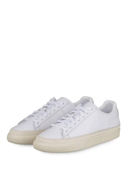 PUMA Sneaker BASKET TRIM PRM, Farbe: WEISS (Bild 1)