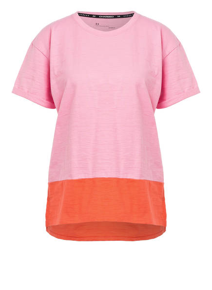 UNDER ARMOUR T-Shirt UA CHARGED, Farbe: ROSA/ ORANGE (Bild 1)