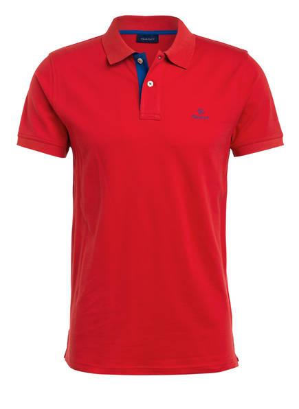 GANT Piqué-Poloshirt Regular Fit, Farbe: ROT (Bild 1)