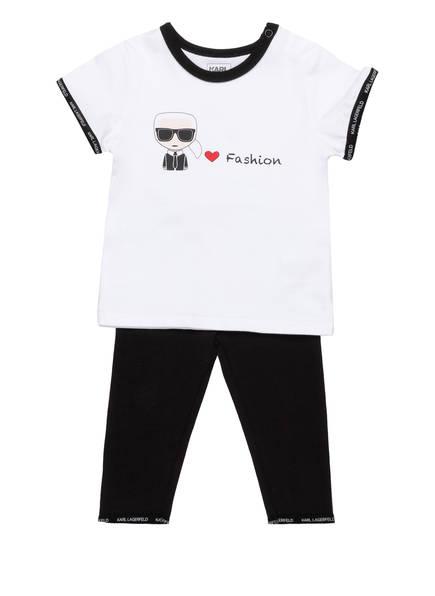 KARL LAGERFELD KIDS Set: T-Shirt und Leggings, Farbe: SCHWARZ/ WEISS (Bild 1)