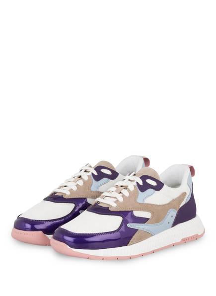BOSS Plateau-Sneaker, Farbe: WEISS/ DUNKELLILA (Bild 1)