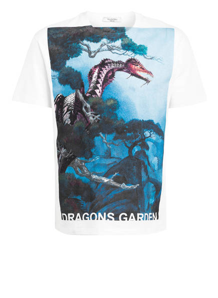 VALENTINO T-Shirt DRAGONS GARDEN, Farbe: WEISS (Bild 1)