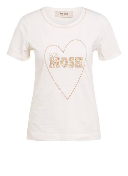 MOS MOSH T-Shirt NIKKY mit Nietenbesatz, Farbe: ECRU (Bild 1)