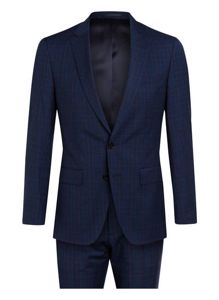 BOSS Anzug HUGE/GENIUS Slim Fit, Farbe: BLAU/ ROT KARIERT (Bild 1)