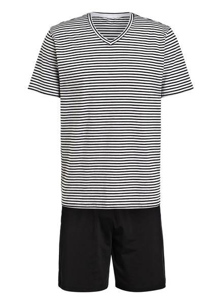 SCHIESSER Shorty-Schlafanzug , Farbe: SCHWARZ/ HELLGRAU (Bild 1)