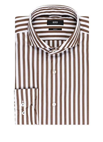 BOSS Hemd JEMERSON Slim Fit, Farbe: WEISS/ HELLBRAUN (Bild 1)