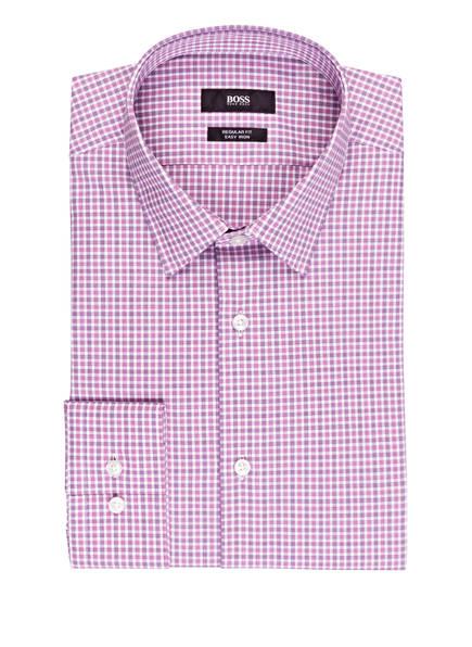 BOSS Hemd ELIOTT Regular Fit, Farbe: WEISS/ PINK/ DUNKELLILA (Bild 1)