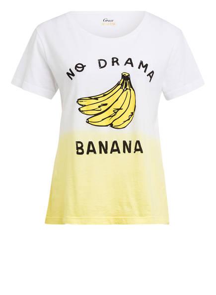 Grace T-Shirt, Farbe: WEISS/ GELB (Bild 1)