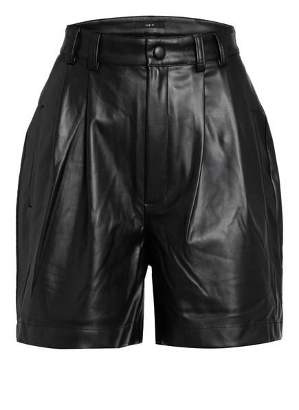 SET Shorts in Lederoptik, Farbe: SCHWARZ (Bild 1)
