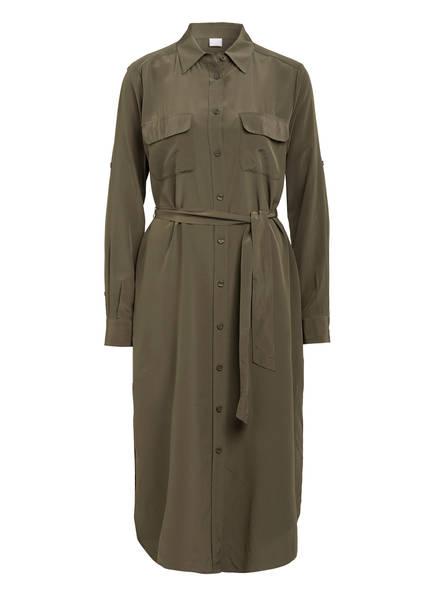 BOSS Hemdblusenkleid CALLURA aus Seide, Farbe: OLIV (Bild 1)