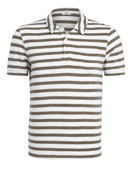 CLOSED Frottee-Poloshirt Regular Fit, Farbe: KHAKI/ WEISS GESTREIFT (Bild 1)
