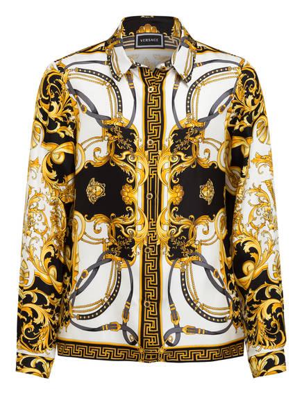 VERSACE Hemdbluse aus Seide, Farbe: WEISS/ SCHWARZ/ GOLD (Bild 1)