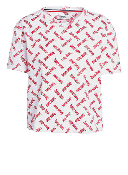 TOMMY JEANS Cropped-Shirt , Farbe: WEISS/ ROT (Bild 1)