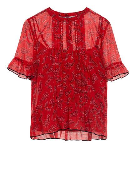 TOMMY JEANS Blusenshirt mit Volantbesatz, Farbe: ROT (Bild 1)