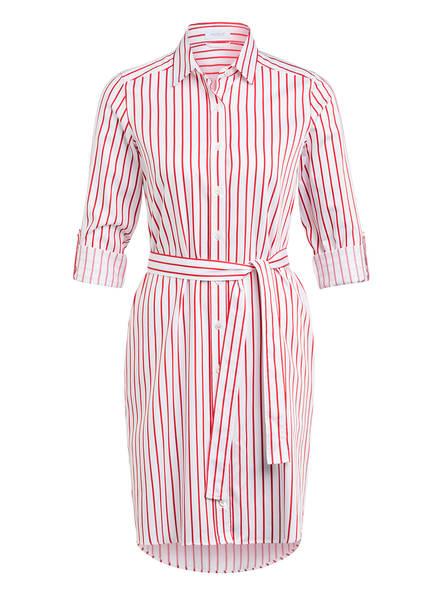 van Laack Hemdblusenkleid KEAS, Farbe: WEISS/ ROT (Bild 1)