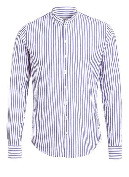 Q1 Manufaktur Hemd RENE Regular Fit mit Stehkragen, Farbe: BLAU/ WEISS (Bild 1)