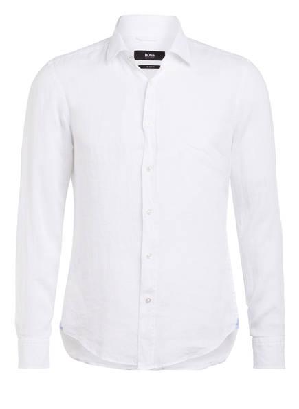 BOSS Leinenhemd JOY Slim Fit, Farbe: WEISS (Bild 1)