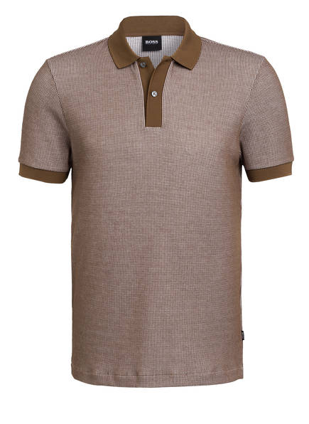 BOSS Piqué-Poloshirt PARLAY, Farbe: BRAUN (Bild 1)