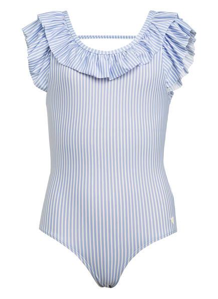 SCOTCH R'BELLE Badeanzug, Farbe: HELLBLAU/ WEISS GESTREIFT (Bild 1)