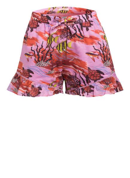 SCOTCH R'BELLE Shorts mit Volantbesatz, Farbe: HELLLILA/ ROT (Bild 1)