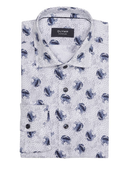 OLYMP SIGNATURE Leinenhemd tailored fit , Farbe: HELLBLAU/ DUNKELBLAU (Bild 1)
