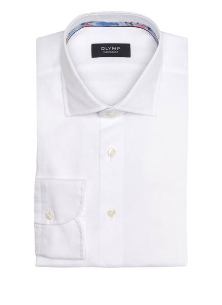 OLYMP SIGNATURE Leinenhemd tailored fit, Farbe: WEISS (Bild 1)