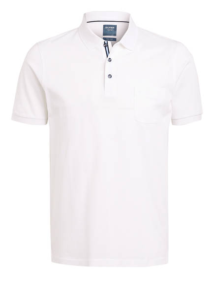 OLYMP Piqué-Poloshirt, Farbe: WEISS (Bild 1)