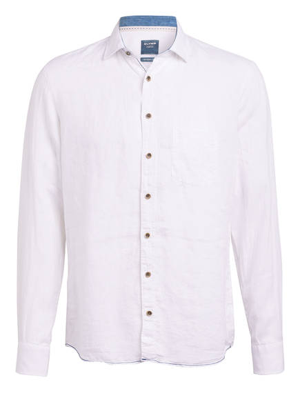 OLYMP Leinenhemd Casual modern fit, Farbe: WEISS (Bild 1)