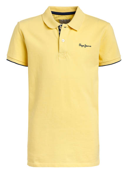 Pepe Jeans Piqué-Poloshirt Regular Fit, Farbe: GELB (Bild 1)