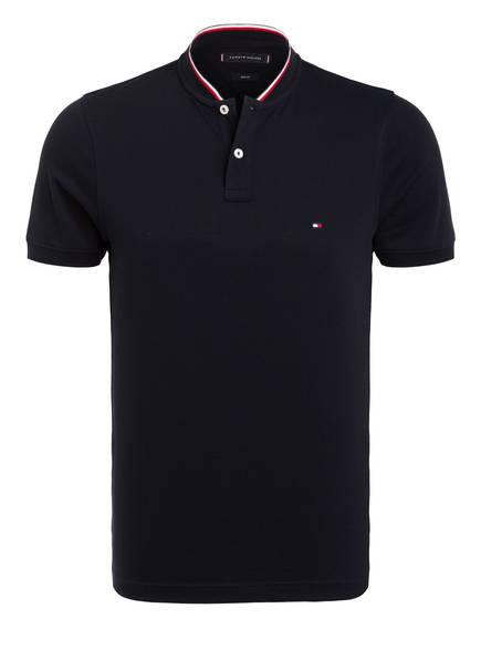 TOMMY HILFIGER Piqué-Poloshirt, Farbe: DUNKELBLAU (Bild 1)