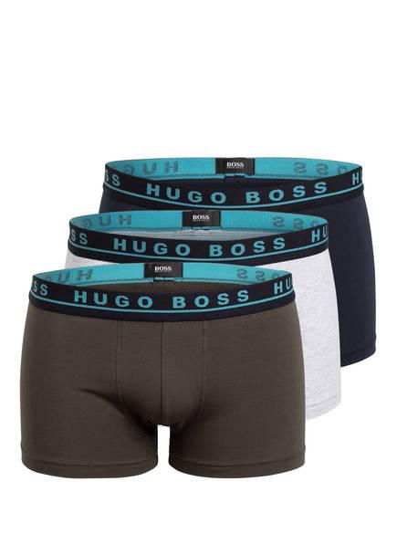 BOSS 3er-Pack Boxershorts , Farbe: BLAU/ GRAU/ KHAKI (Bild 1)