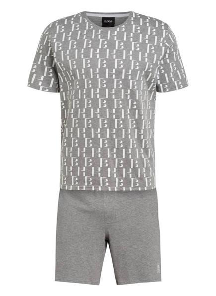 BOSS Shorty-Schlafanzug RELAX, Farbe: HELLGRAU/ WEISS MELIERT (Bild 1)