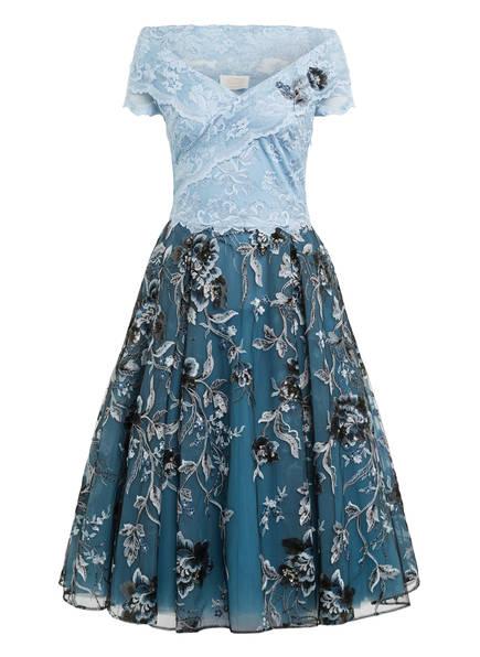 OLVI'S Abendkleid aus Spitze, Farbe: HELLBLAU/ PETROL/ SCHWARZ (Bild 1)