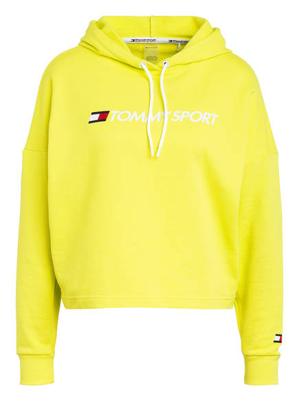 TOMMY HILFIGER Cropped-Hoodie, Farbe: LIME (Bild 1)