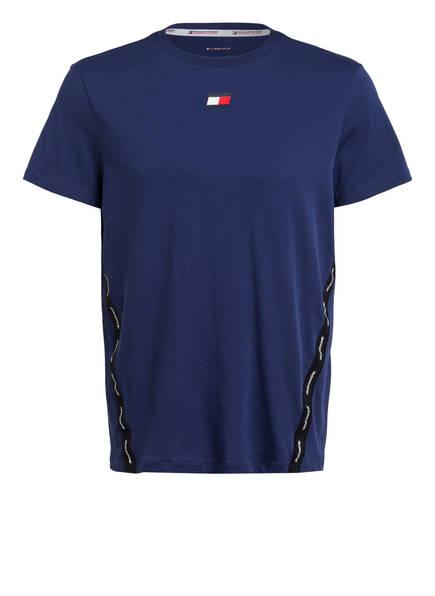 TOMMY HILFIGER T-Shirt mit Mesh-Einsätzen, Farbe: NAVY (Bild 1)