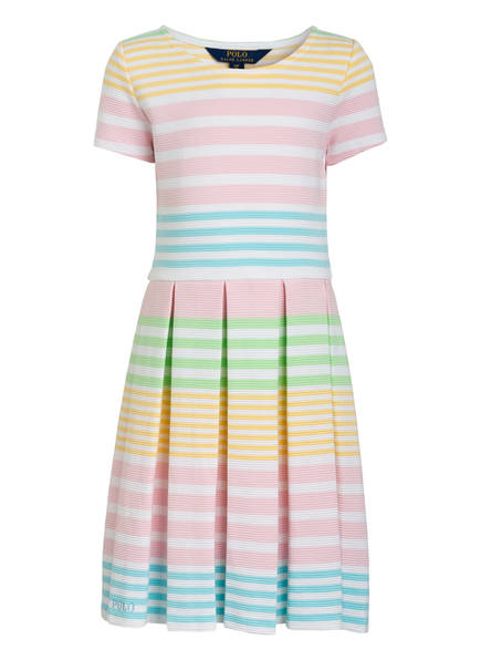 POLO RALPH LAUREN Kleid, Farbe: WEISS/ TÜRKIS/ GRÜN/ GELB (Bild 1)