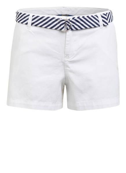 POLO RALPH LAUREN Chino-Shorts, Farbe: WEISS/ DUNKELBLAU (Bild 1)