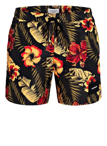 Calvin Klein Badeshorts , Farbe: SCHWARZ/ GELB/ ROT (Bild 1)