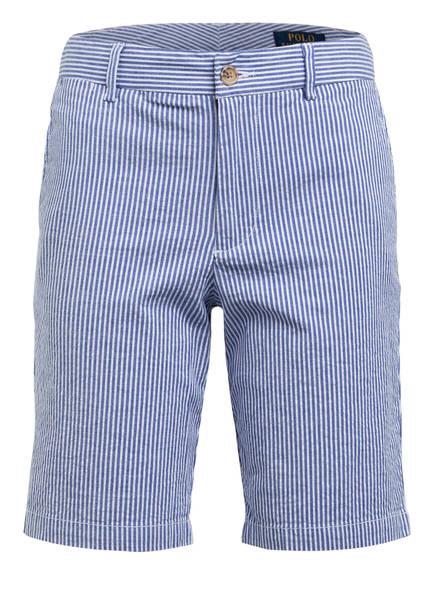 POLO RALPH LAUREN Chino-Shorts, Farbe: WEISS/ BLAU GESTREIFT (Bild 1)