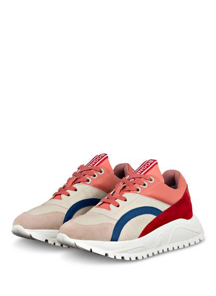 BOGNER Plateau-Sneaker MALAGA, Farbe: BEIGE/ ALTROSA/ BLAU (Bild 1)