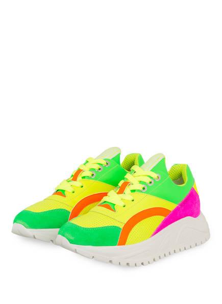 BOGNER Plateau-Sneaker MALAGA, Farbe: NEONGELB/ NEONGRÜN/ PINK (Bild 1)