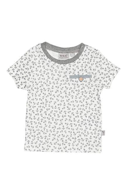 WHEAT T-Shirt PEDER , Farbe: WEISS/ HELLGRAU (Bild 1)