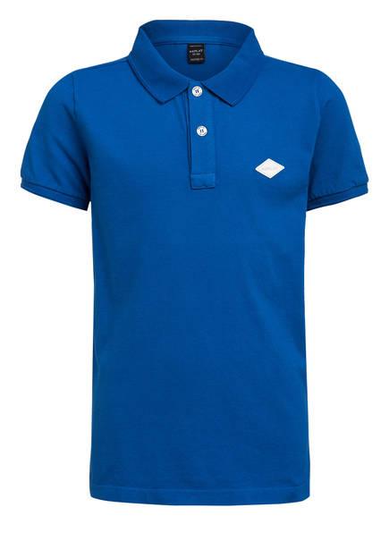 REPLAY Piqué-Poloshirt Regular Fit, Farbe: BLAU (Bild 1)