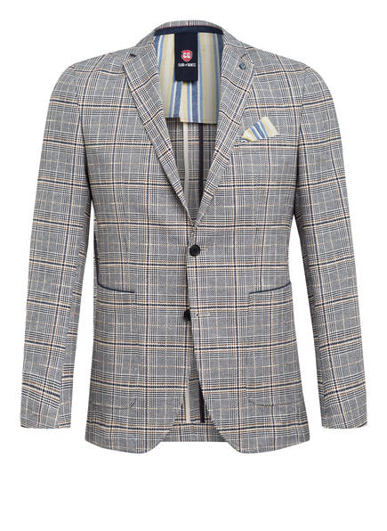 CG CLUB of GENTS Sakko ARIC Tailored Fit, Farbe: CREME/ DUNKELBLAU/ BRAUN (Bild 1)