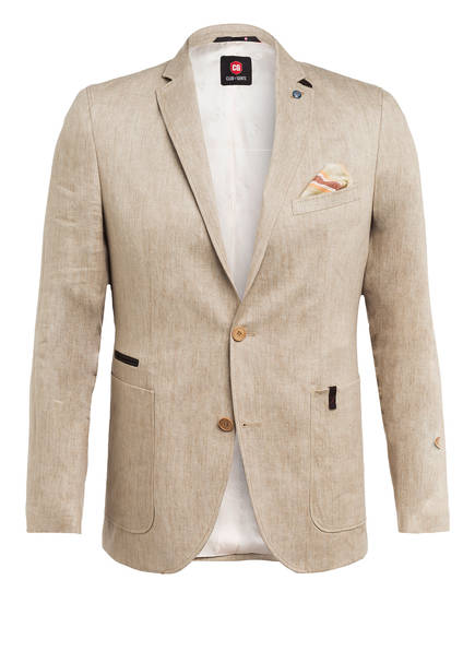 CG CLUB of GENTS Leinensakko ARMINATO Tailored Fit, Farbe: BEIGE (Bild 1)
